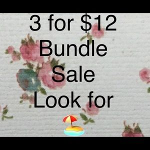 Bundle any 3 Items marked 🏖 3 for $12